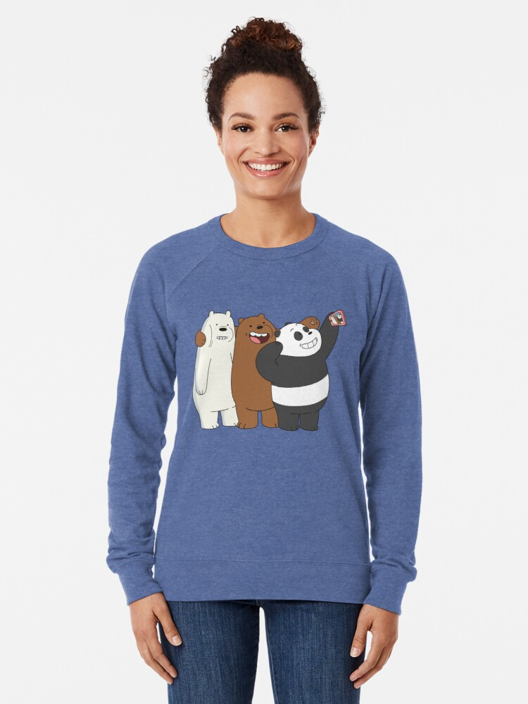 Alternate view of We Bare Bears Lightweight Sweatshirt