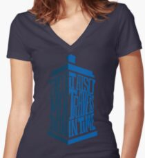It also travels in time Women's Fitted V-Neck T-Shirt