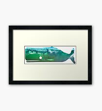 Sperm Whale wave Framed Print