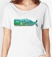 Sperm Whale wave Women's Relaxed Fit T-Shirt