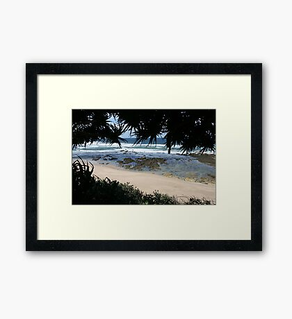 Low Tide at Corindi Beach Framed Print