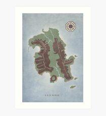 Lost Island Dharma Art Print