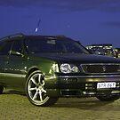 "My ""Sherwood Green"" Nissan Stagea by GoldZilla"