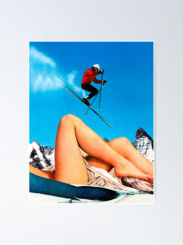 Alternate view of Skiing Time Poster