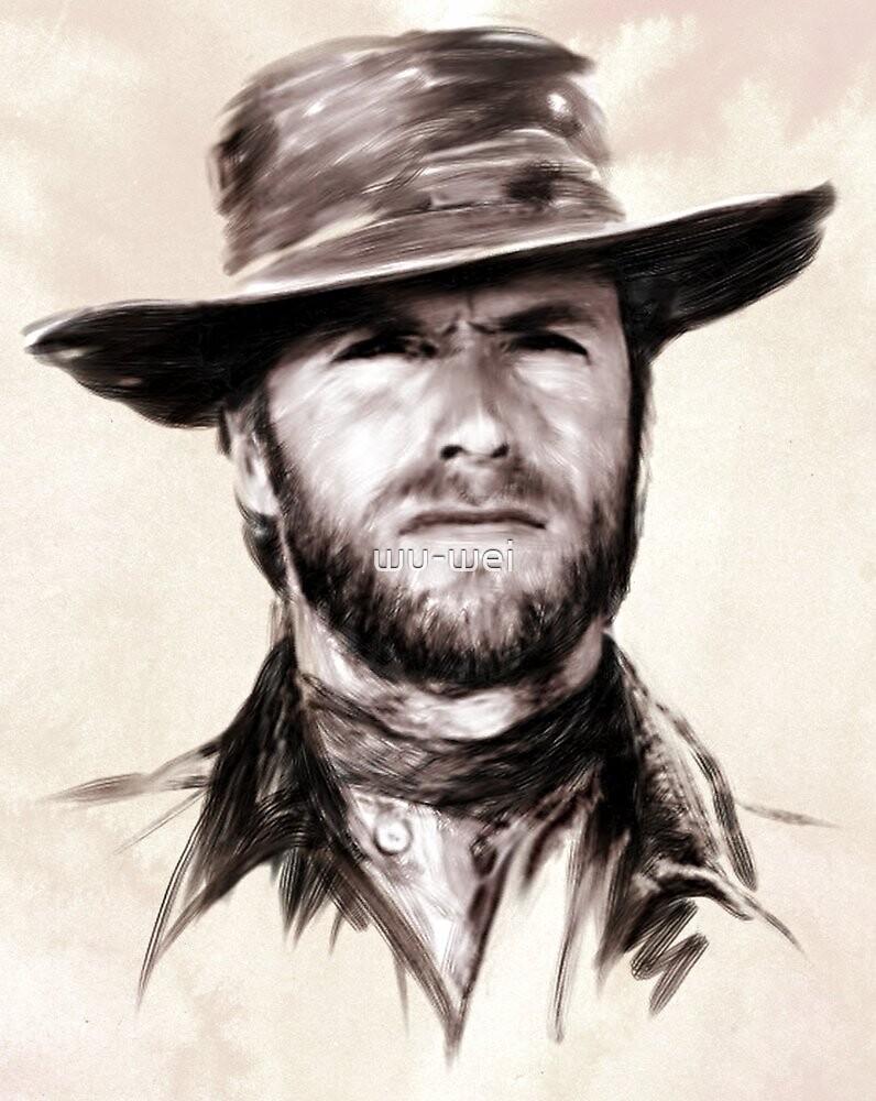 Clint Eastwood portrait by wu-wei