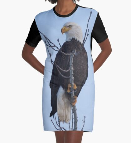 Bald Eagle Graphic T-Shirt Dress