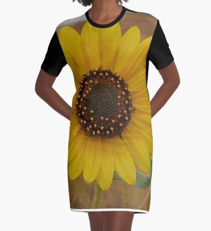 Sunflower Graphic T-Shirt Dress