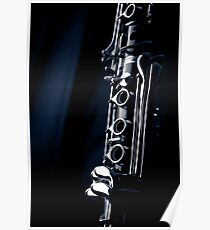 Clarinet detail blue IV Poster