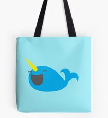 the incredibly happy narwhale Tote Bag