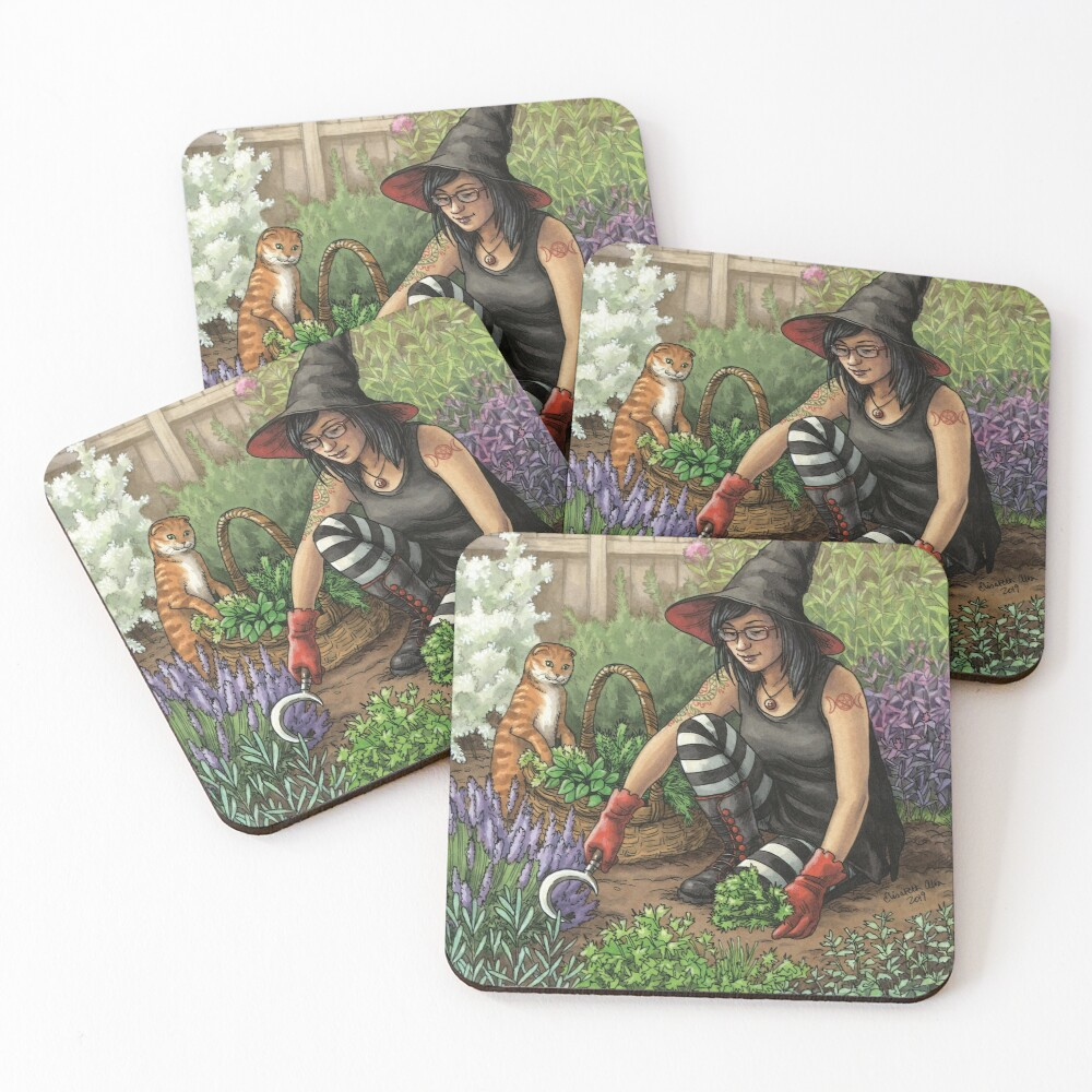 Everyday Witch Oracle - Seasonal Harvest Coasters (Set of 4)