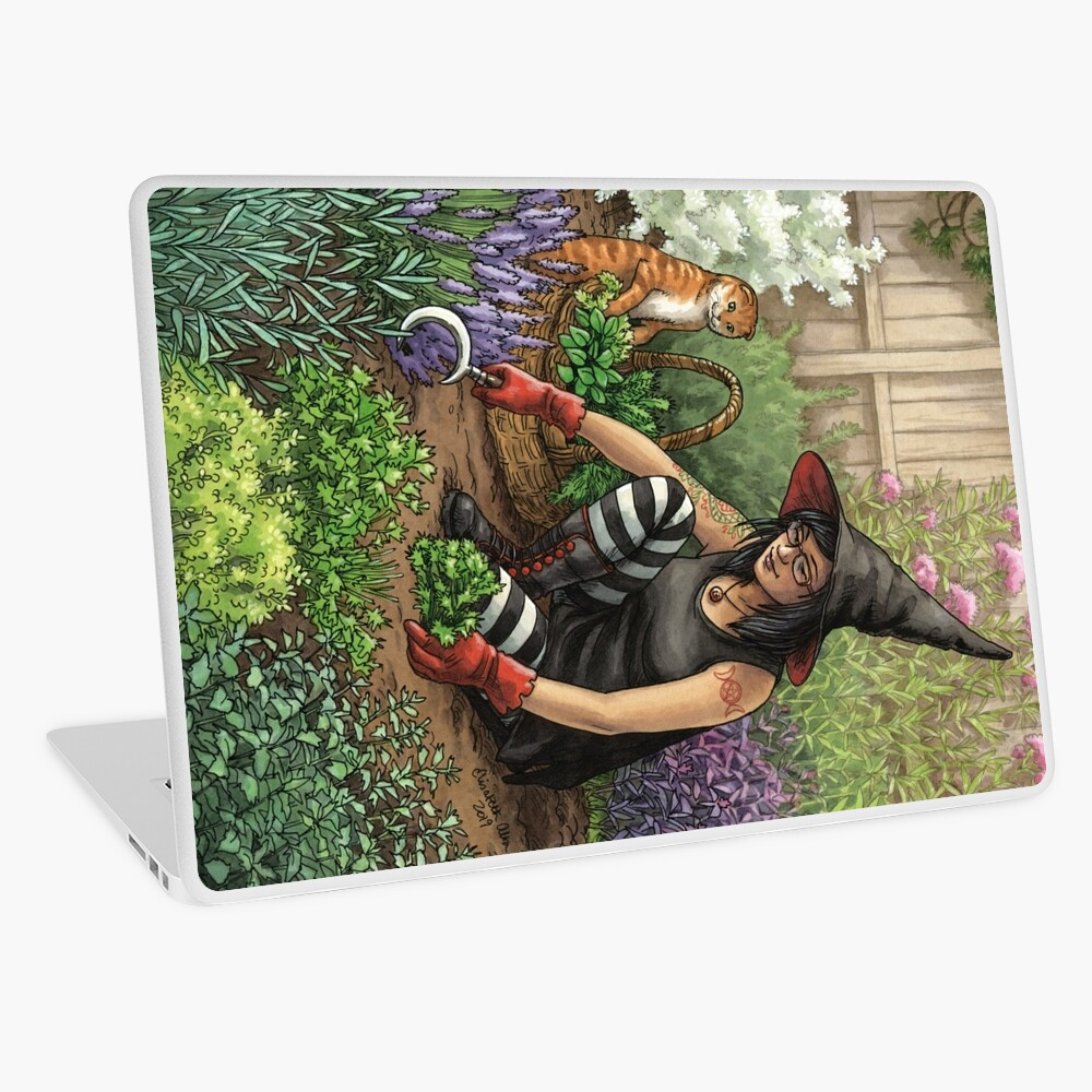 Everyday Witch Oracle - Seasonal Harvest Laptop Skin