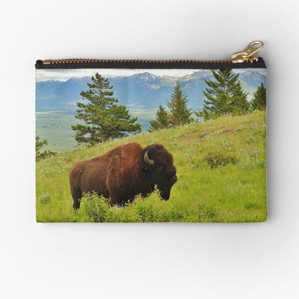 Spring Bison Zipper Pouch