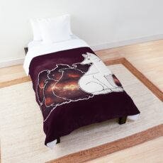 Nine Tails of Space Clouds - Galaxy Kitsune -  Comforter