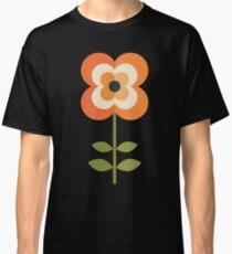 Retro Flower - Orange and Charcoal Classic T-Shirt