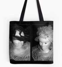 Tulle hats and collars - BW Tote Bag