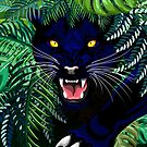 Black Panther Spirit coming out from the Jungle by BluedarkArt