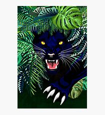 Black Panther Spirit coming out from the Jungle Photographic Print