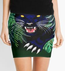 Black Panther Spirit coming out from the Jungle Mini Skirt