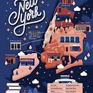 New York Independent Bookstores City Map by esztersletters