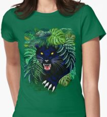 Black Panther Spirit coming out from the Jungle Fitted T-Shirt