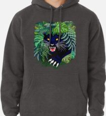Black Panther Spirit coming out from the Jungle Pullover Hoodie