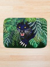 Black Panther Spirit coming out from the Jungle Bath Mat
