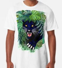 Black Panther Spirit coming out from the Jungle Long T-Shirt