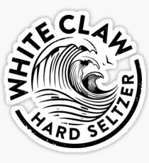 Distressed White Claw Sticker
