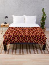 The Shining carpet VECTOR repeating floor pattern 237 overlook hotel Throw Blanket