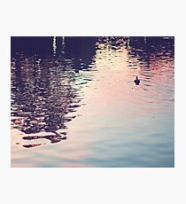 sunset in the water Photographic Print