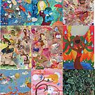 Whimisical Beautiful Detour Collection Collage by Amy Oestreicher