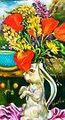Rabbit and Poppies, Big Sur Kitchen by Barbara Sparhawk