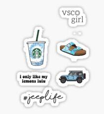 BLUE VSCO PACK Sticker