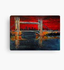 Under a blood red sky Canvas Print