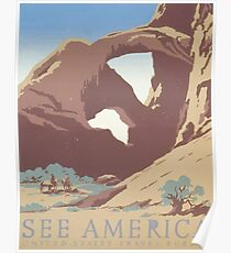 WPA United States Government Work Project Administration Poster 0105 See America Travel Bureau Poster