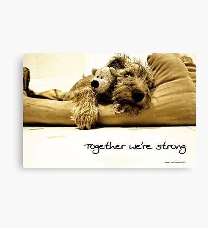 Together we're strong Canvas Print