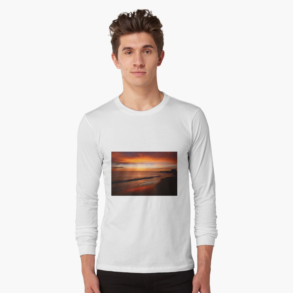 Burning Rota, Spain Sunset Long Sleeve T-Shirt