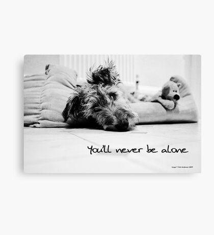 Never be alone Canvas Print