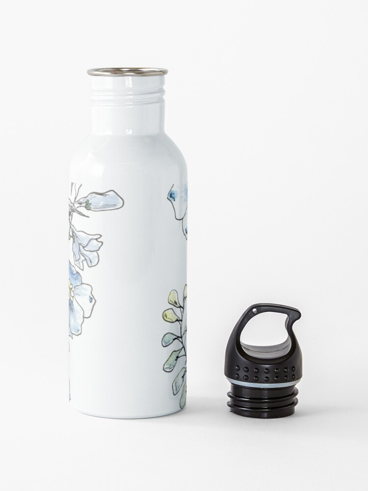 Alternate view of Blue Delphinium Flowers Water Bottle
