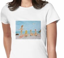 Girls on the beach Womens Fitted T-Shirt