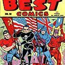 Vintage goldene Zeitalter-Comic-Abdeckung von MaskedMarvel