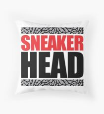 Sneaker Head Elephant Throw Pillow