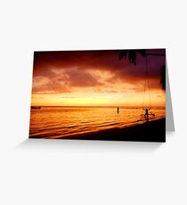 Lazy sunset Greeting Card
