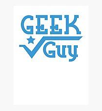 Geek Guy cute nerdy geek design for men Photographic Print