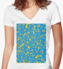 Forget me nots Women's Fitted V-Neck T-Shirt