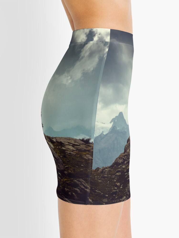 Alternate view of Majestic Mountains and a lone tree Mini Skirt