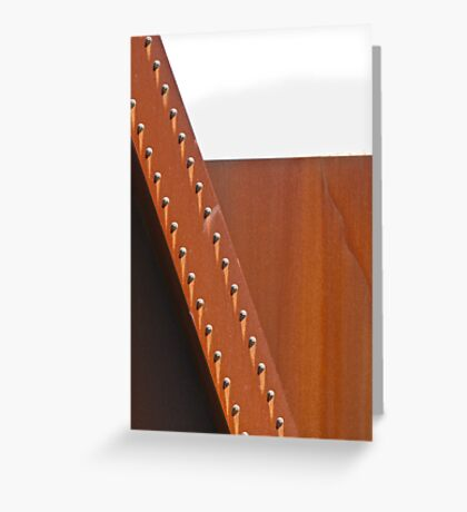 steel + bolts Greeting Card