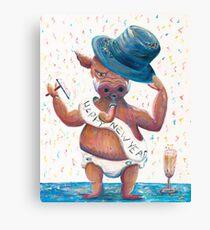 New Year's Hog Canvas Print