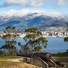 Hobart from Kangaroo Bluff Battery, Tasmania #3 by Chris Cobern