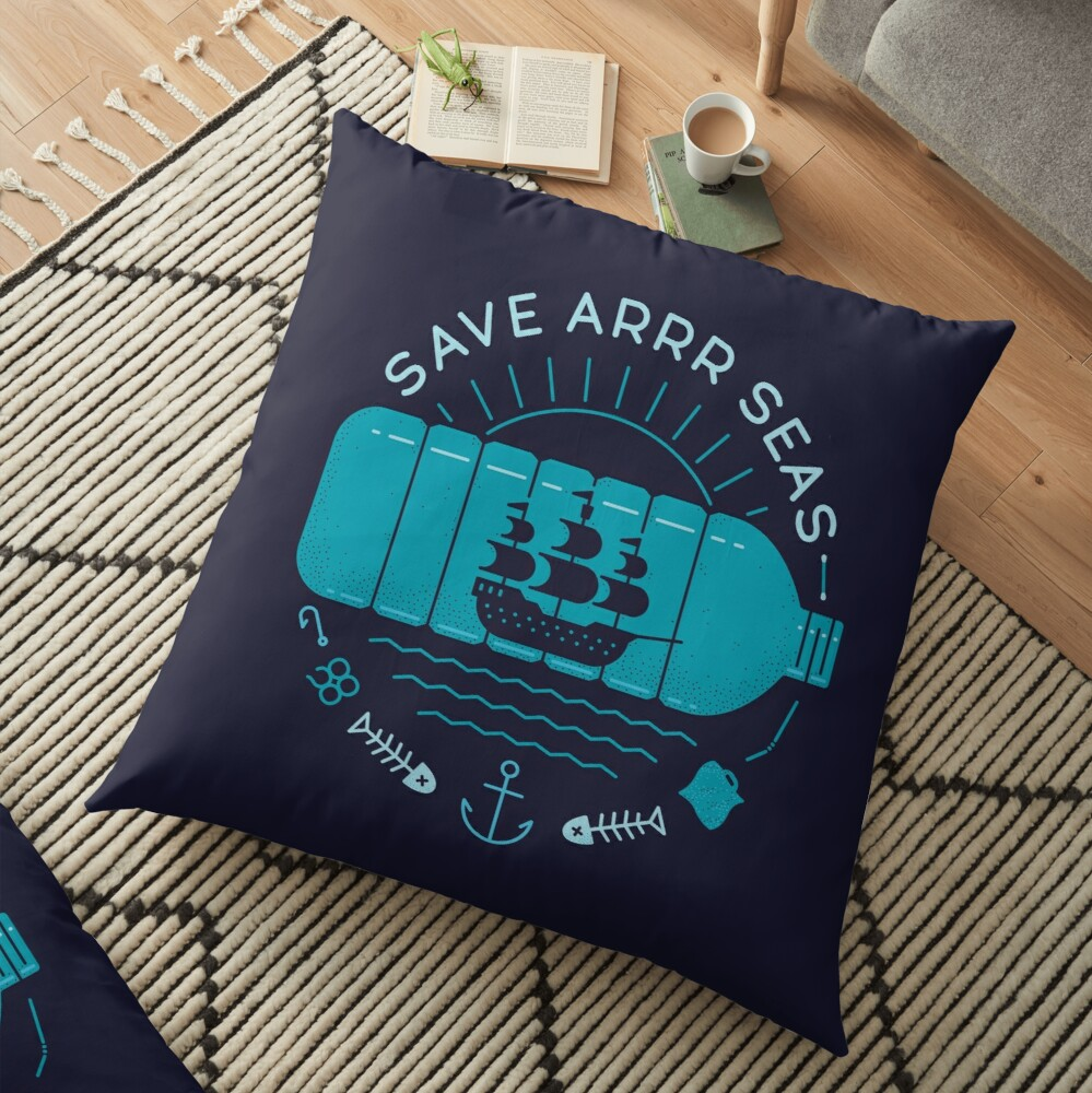 Save Arrr Seas Floor Pillow